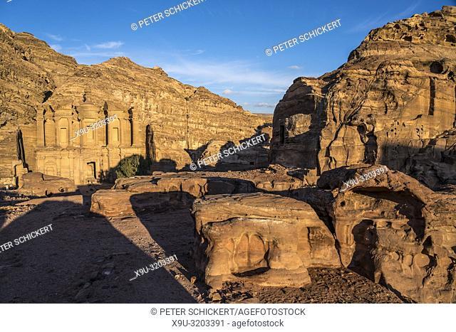 Felsentempel Kloster Ad Deir Petra, Jordanien, Asien | El Deir The Monastery, ancient city of Petra, Jordan, Asia