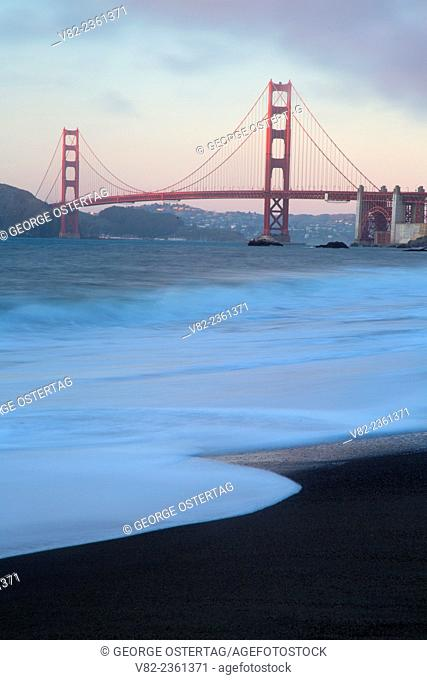 Golden Gate Bridge from China Beach, Golden Gate National Recreation Area, San Francisco, California
