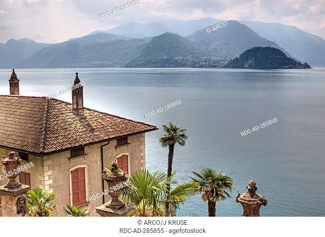 Botanical garden, at Villa Monastero, Varenna, Lake Como, province of Lecco, Lombardy, Italy / Lago di Como