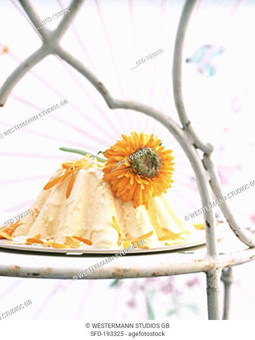 Calendula flower parfait