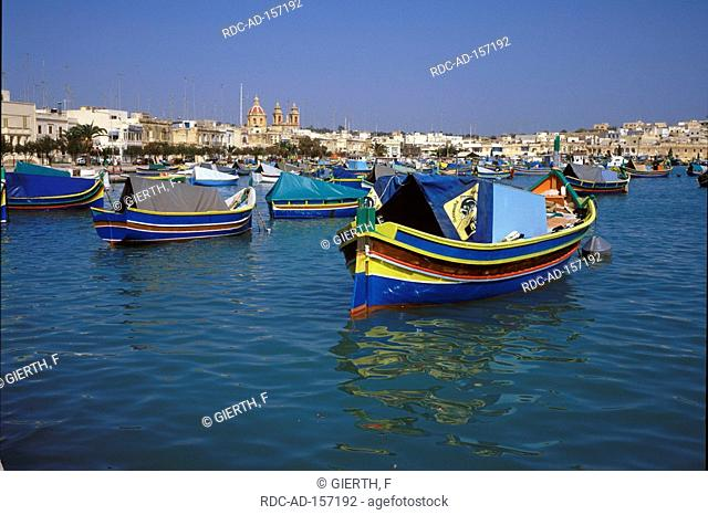 Fishing harbour Marsaxlokk Malta