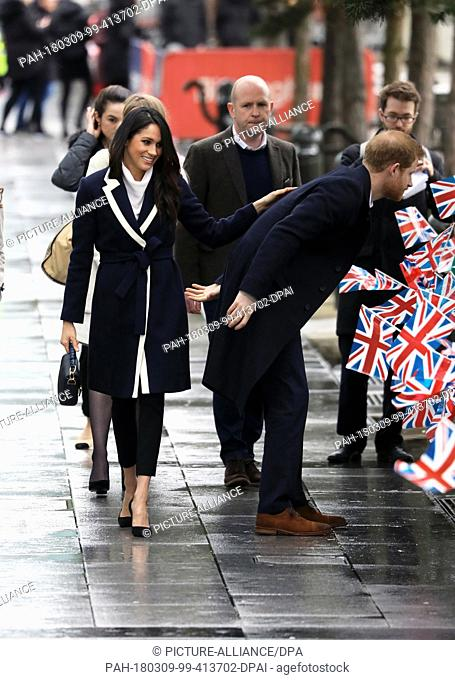 Prince Harry and Ms. Meghan Markle arrive at Millennium Point in Birmingham, on March 8, 2018, to attend an event to celebrate International Women's Day Photo:...