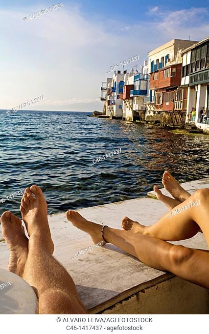 Quarter of Alefkandra, Little Venice, Mykonos, Cyclades Islands, Greece