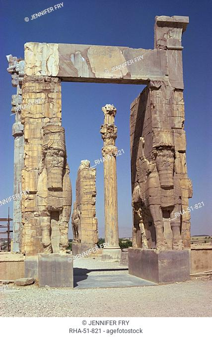 The Gateway of Xerxes, Persepolis, UNESCO World Heritage Site, Iran, Middle East