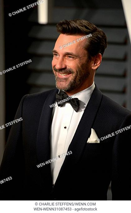Vanity Fair Oscar Party at the Wallis Annenberg Center for the Performing Arts in Beverly Hills, California Featuring: Jon Hamm Where: Los Angeles, California