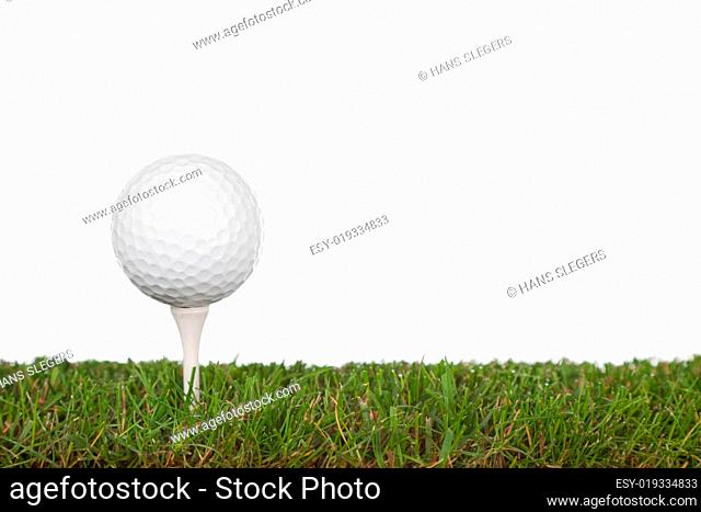 green with golfball
