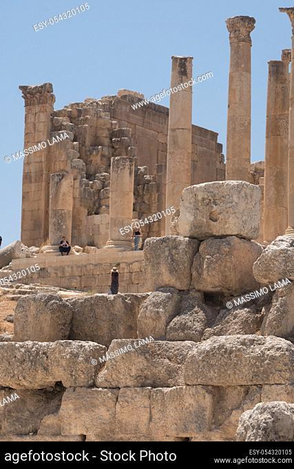 Jerash (Gerasa), ancient roman capital and largest city of Jerash Governorate, Jordan,