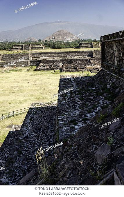 Pyramid of the Sun. Teotihuacan. Mexico