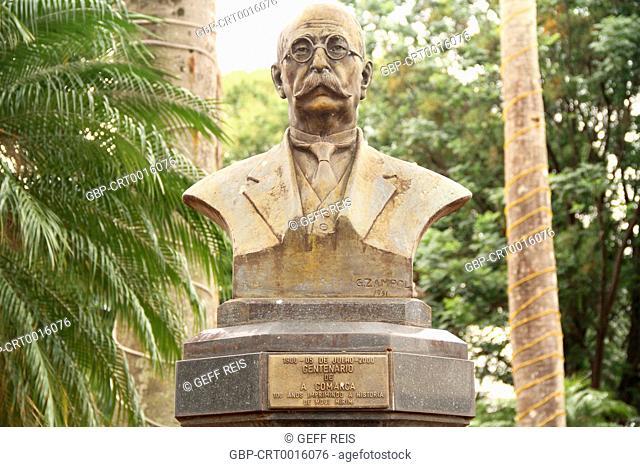 Sao Paulo; SP; Mogi Mirim; Brazil; Rui Barbosa Square; Bust Francisco Cardona