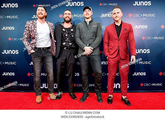 2018 JUNO Awards, held at the Rogers Arena in Vancouver, Canada. Featuring: James Barker Band Where: Vancouver, British Columbia