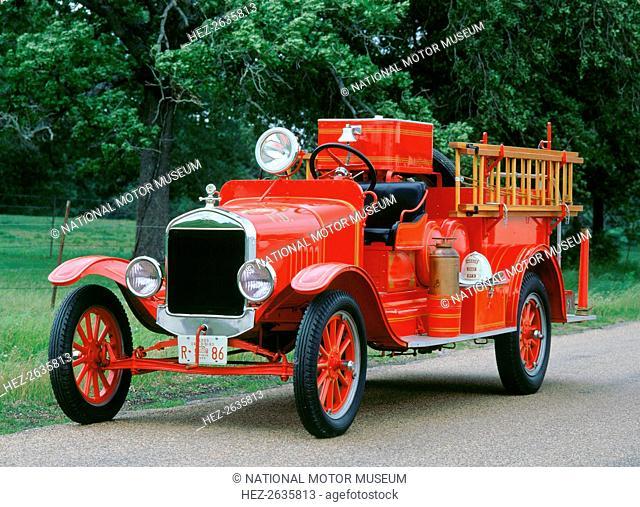 1927 Ford TT Fire engine. Artist: Unknown