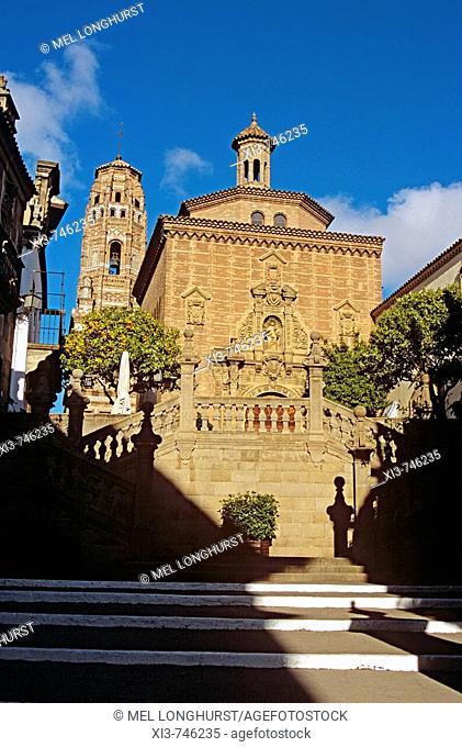 Iglesia de las Carmelitas, Poble Espanyol Spanish Village de Montjuic, Barcelona, Spain