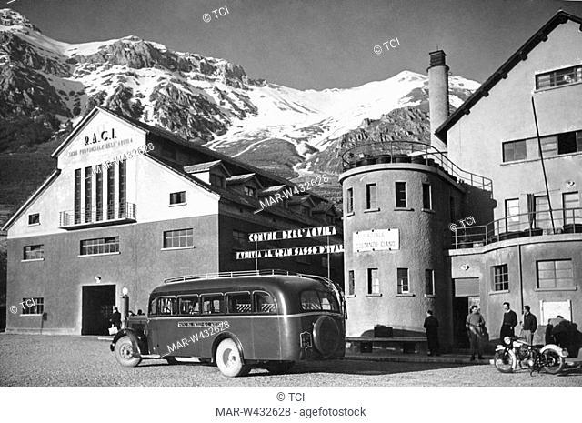 gran sasso cableway, abruzzo, italy, 1930-40