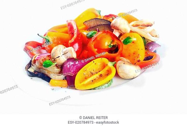Succulent roasted vegetables side dish