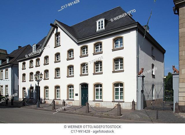 Germany, Duisburg, Rhine, Lower Rhine, Ruhr area, North Rhine-Westphalia, Duisburg-Ruhrort, Haniel Museum, residential house and office building of Franz Haniel