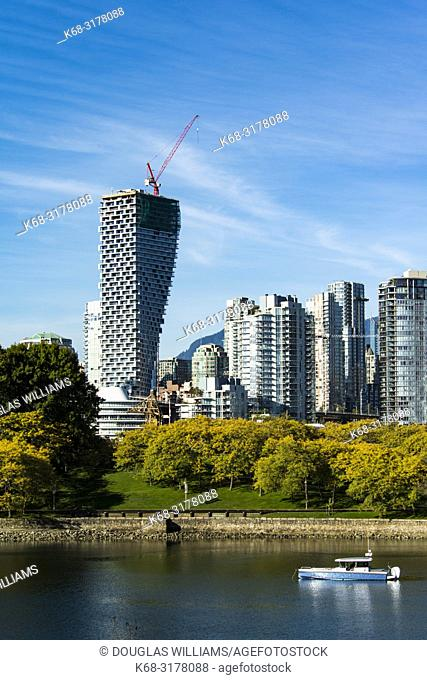 Vancouver House, from Alder Bay, with Granville Island in foreground, Vancouver, BC, Canada