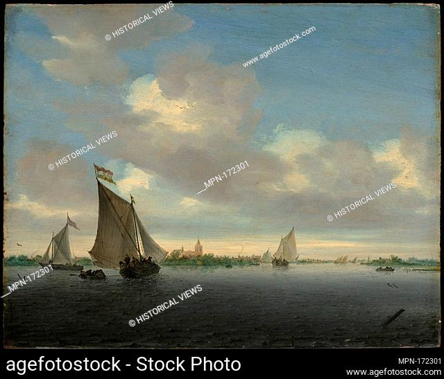Marine. Artist: Salomon van Ruysdael (Dutch, Naarden, born ca. 1600-1603, died 1670 Haarlem); Date: 1650; Medium: Oil on wood; Dimensions: 13 5/8 x 17 1/8 in