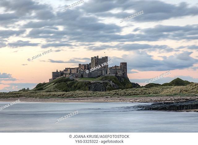 Bamburgh Castle, Northumberland, England, UK, Europe