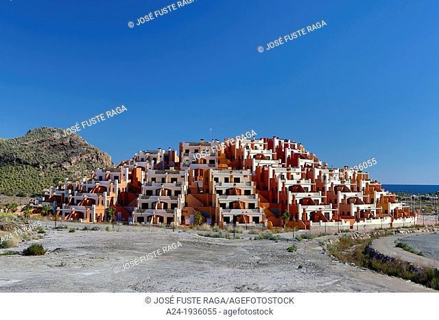 Spain , Andalucia Region , Almeria Province , near Mojacar City , new apartment bldgs