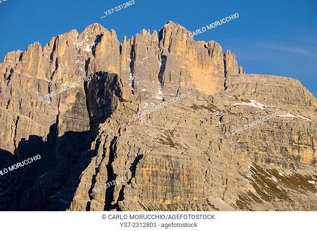 Monte Popera and Cima Undici, Dolomiti di Sesto, Sesto, Bolzano, Italy, Europe