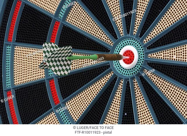 Dart in a dart board