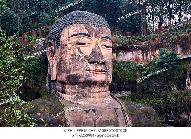 China, Sichuan province, Emei mount, Leshan, giant Buddha, Unesco world heritage