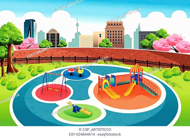 Playground in the City Background