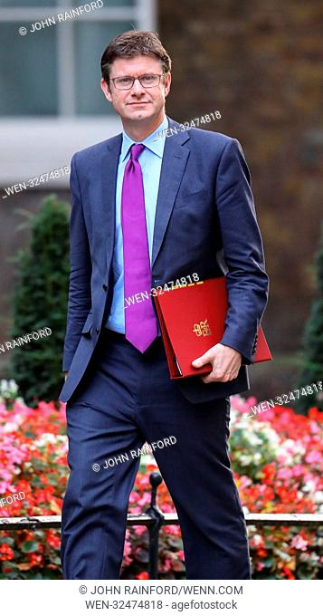 Ministers attend the weekly Cabinet Meeting at 10 Downing Street, London. Featuring: Greg Clark Where: London, United Kingdom When: 17 Oct 2017 Credit: John...