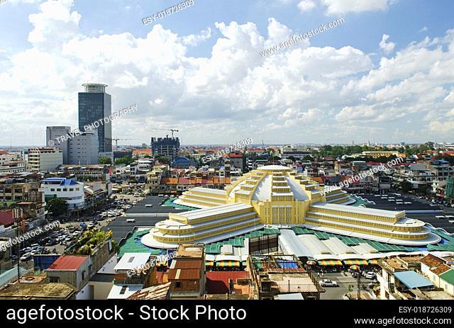 psar thmei central market in phnom penh cambodia