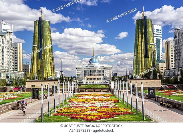 Kazakhstan, Astana City, New Administrative City, Nurzhol Avenue , President Palace -Akoda