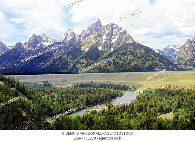 Snake River Grand Teton National Park Wyoming WY United States