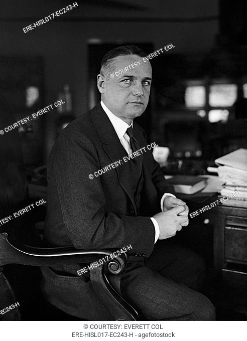 William 'Wild Bill' Donovan 1883-1959, as an Assistant Attorney General under A. Mitchell Palmer. He developed his 'spying' portfolio in the 1920s and 1930s