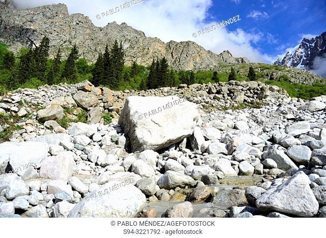 Ak Sai valley, Ala Archa, Chui province, Kyrgyzstan
