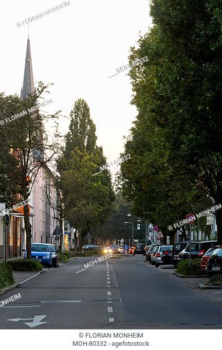 Krefeld, Victoriastraße, Blick vom Bismarckplatz nach Süden