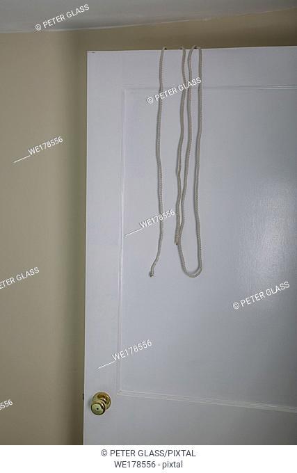 Rope dangling off on open door