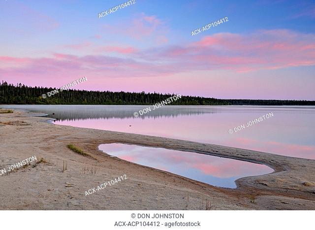 Pine Lake at dawn, Wood Buffalo National Park, Alberta, Canada