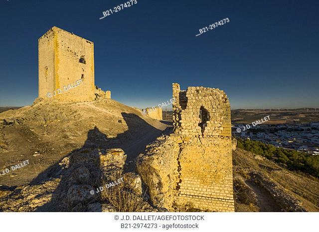 Spain, Andalusia, Malaga Province, Moorish castle of La Estrella at Teba