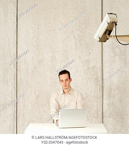 Conceptual image of internet privacy and computer surveillance