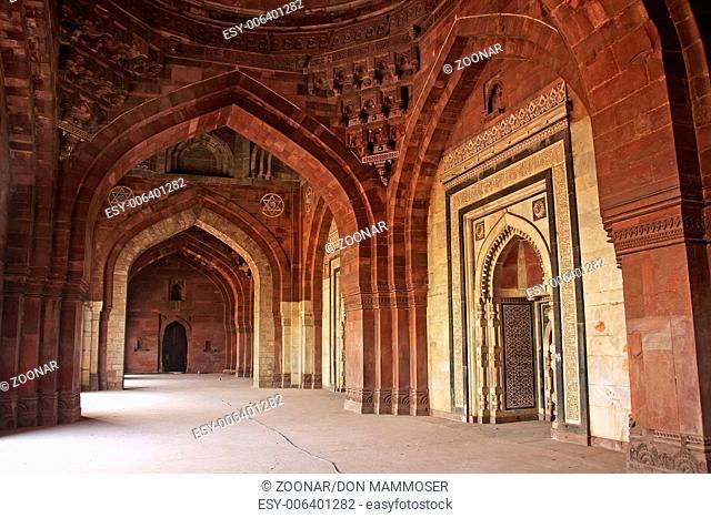 Interior of Qila-i-kuna Mosque, Purana Qila, New D