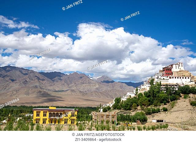 view at Indus valley from Thiksey monastery, Ladakh, India