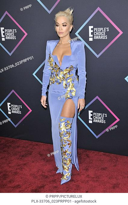 Rita Ora at E! People's Choice Awards held at the Barker Hangar in Santa Monica, CA on Sunday, November 11, 2018. Photo by PRPP / PictureLux