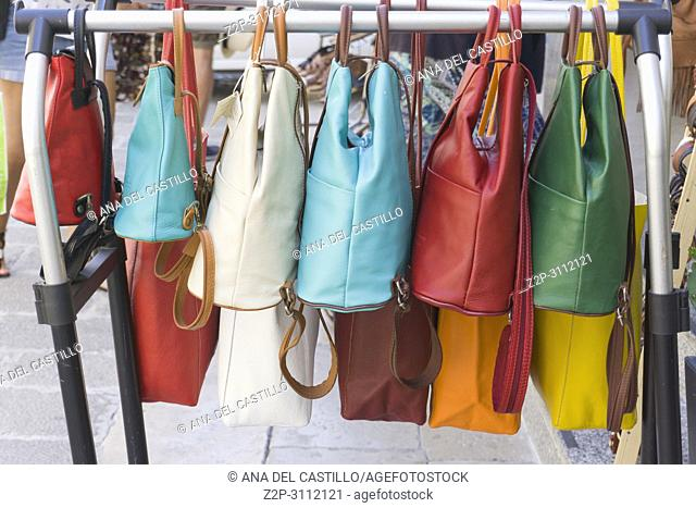Colorful leather handbags for sale Lecce Italy