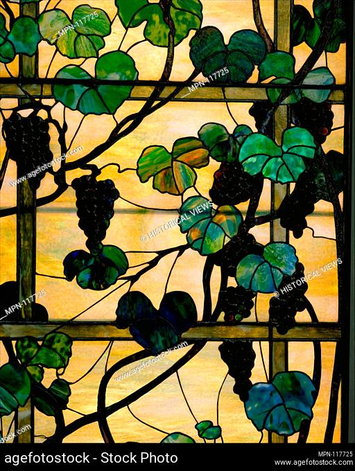 Grapevine Panel. Designer: Designed by Louis Comfort Tiffany (American, New York 1848-1933 New York); Maker: Tiffany Studios (1902-32); Date: ca