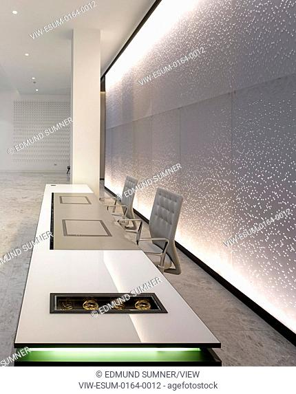 Reception and public areas of office building New Oxford Street London. One Hundred New Oxford Street has been comprehensively r