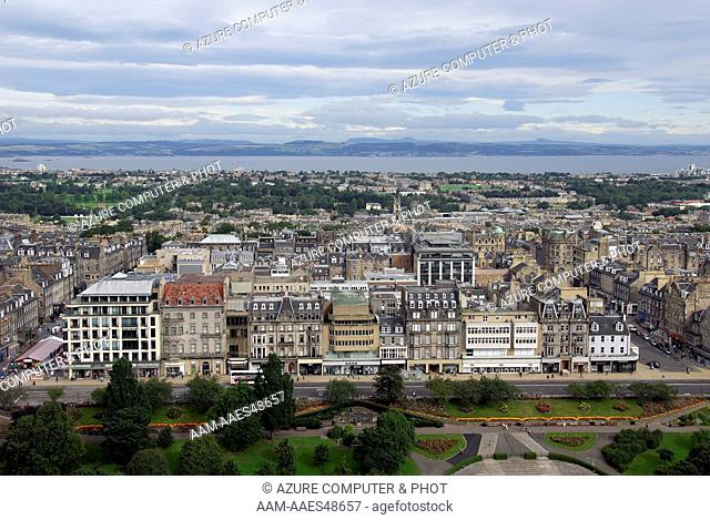 View of Edinburgh from Edinburgh Castle, Scotland, United Kingdom