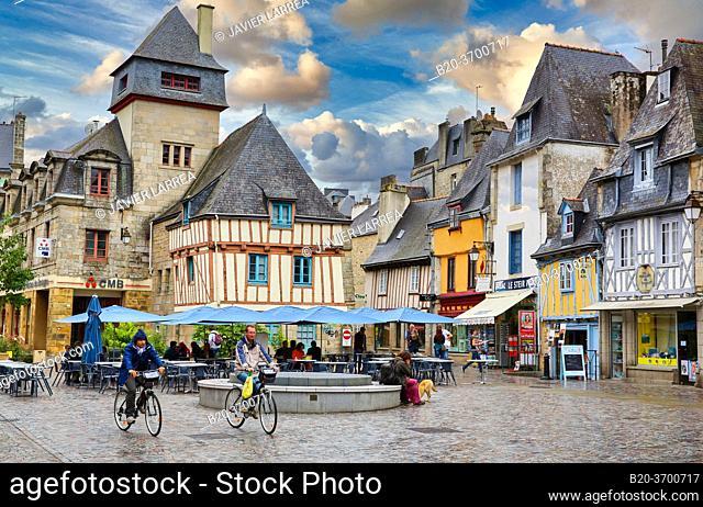 Place Terre au Duc Square, Quimper, Bretagne, Brittany, France