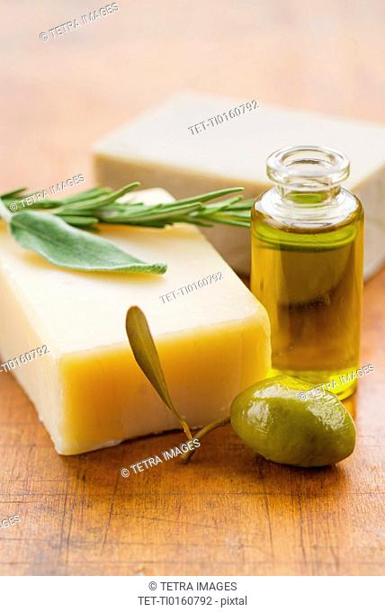 Soap and aromatherapy oil