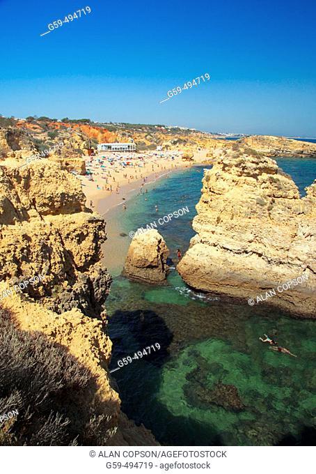 Portugal, Algarve, Albufeira, Praia San Raphael
