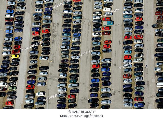 parking lot, Workers parking lot, Hohenstein, Ennepetal, Ruhr Area, North Rhine-Westphalia, Germany, Europe