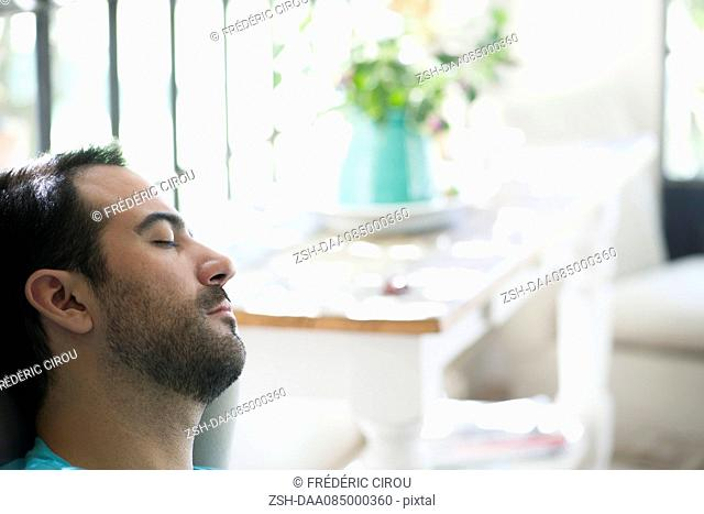 Man taking nap